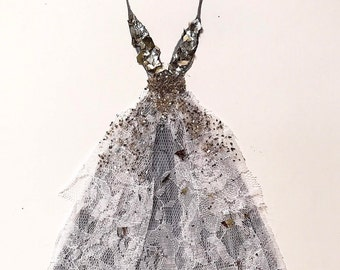 Eclectic Couture Wedding Gown Wall Art