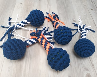 Dog toy, Braided dog toy, Ball toy, Handmade dog toy,  pet toy, rope toy, dog christmas presents
