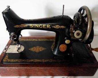 Symbol Of The Brand Singer Model 66 Sewing Machine Red Eye Style Restoration Decals Multi Color 100% Original Antiques Other Antique Restoration