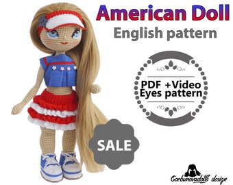 Mexican Doll Pattern-English - Crochet Pattern - Amigurumi Doll ... | 270x340