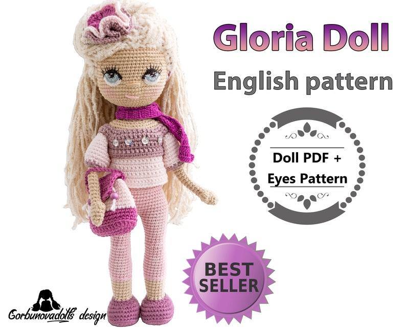 Crochet Toy Pattern Pdf Amigurumi Doll Pattern English Pdf Yasemin doll with rose costume. Stuffed Doll Pattern Crochet Doll Pattern