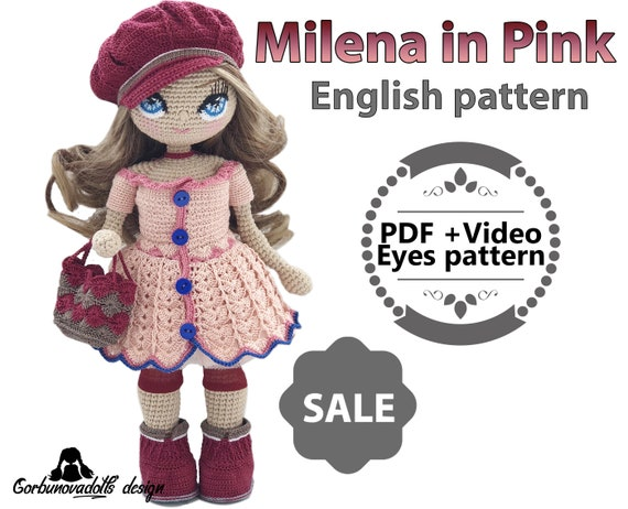 Amigurumi crochet doll pattern: Little Red Riding Hood | 462x570