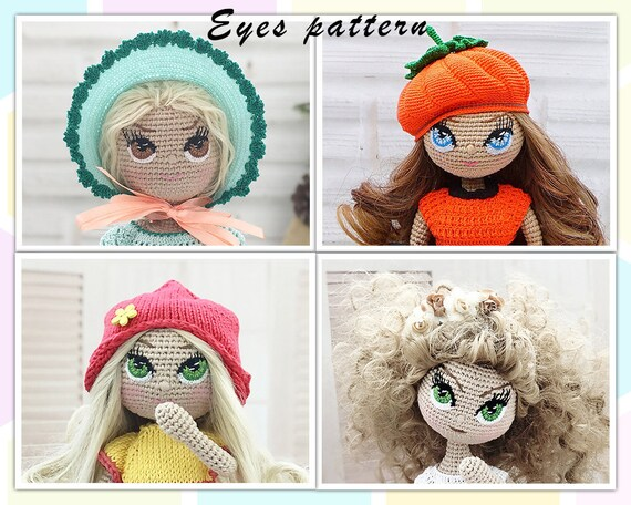 Eyes Crochet Pattern Crochet Doll Pattern Amigurumi Doll Etsy