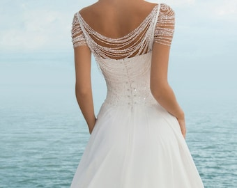 Boho Wedding Dress Modern Bridal Lace Boho Simple By Vanillawfg