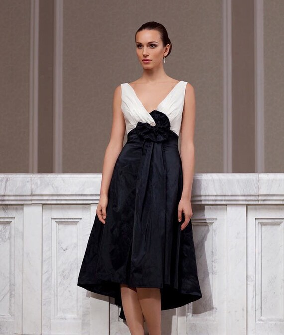 Black Wedding Dress Black Evening Dress Embroidered Lace Etsy