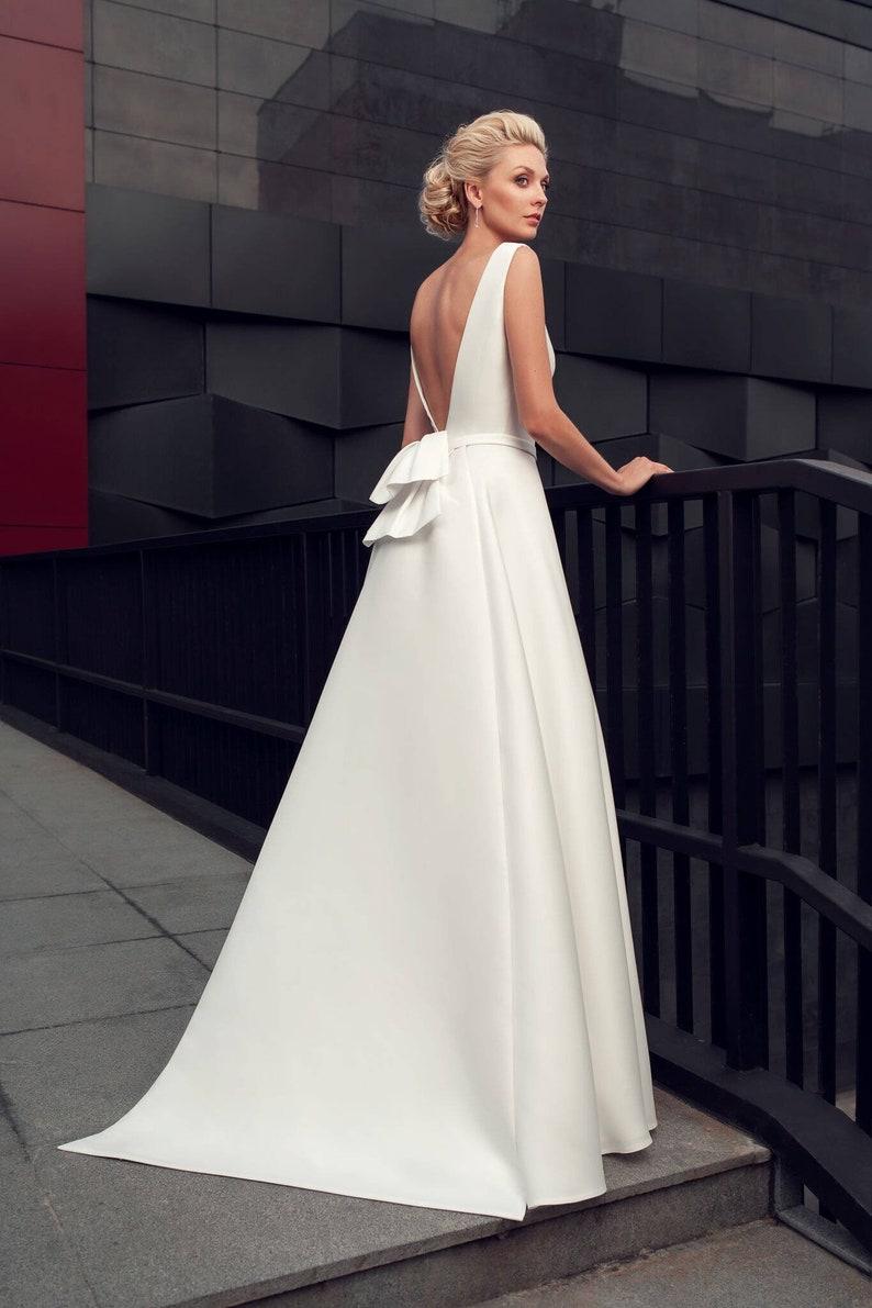 Modern Wedding Gown Modern Wedding Dress Simple Stylish Etsy
