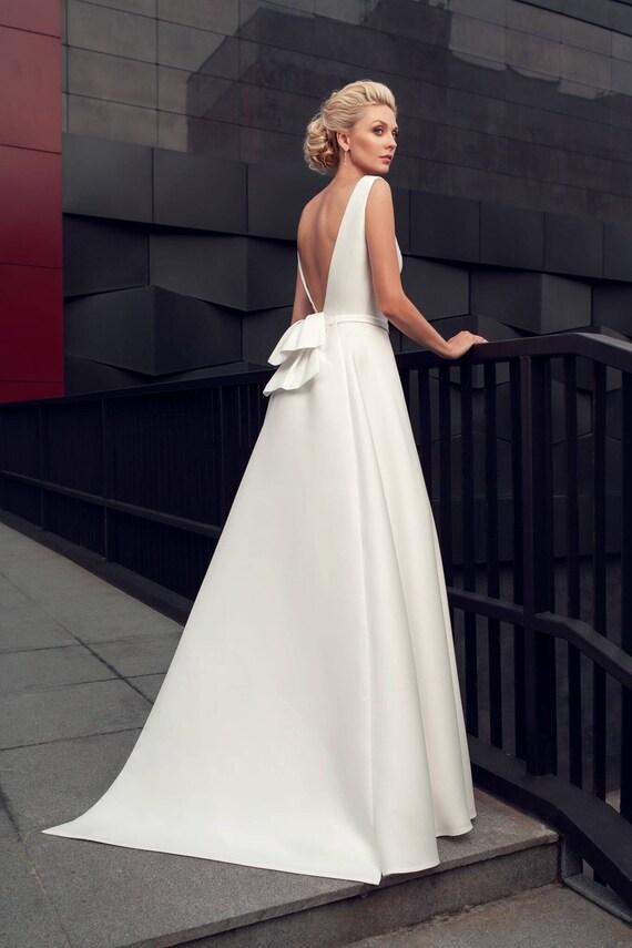 Moderne Hochzeit Kleid Moderne Hochzeit Kleid Einfach Stilvoll Etsy