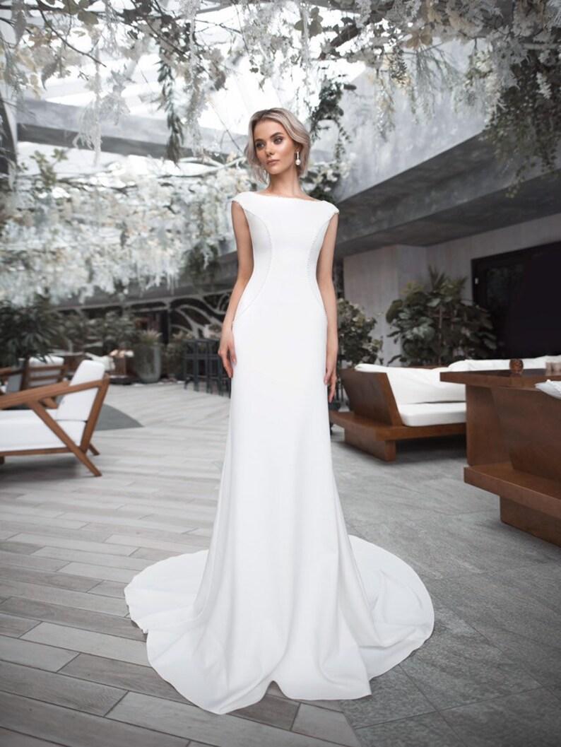 Boho mariage robe Bohème chic classique élégant mariage blanc ivoire robe  mariage élégant robe voile minimaliste sac mariage pompons plage