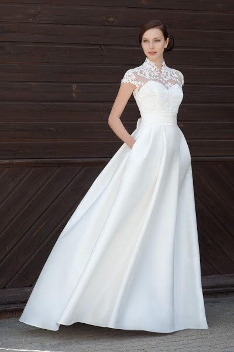Wedding Dresses Bolero.Modern Wedding Dress Modern Wedding Simple Elegant Lace Bolero Boho Minimalist Wedding Gown Ivory White Bohemian Embroidered Lace Blush