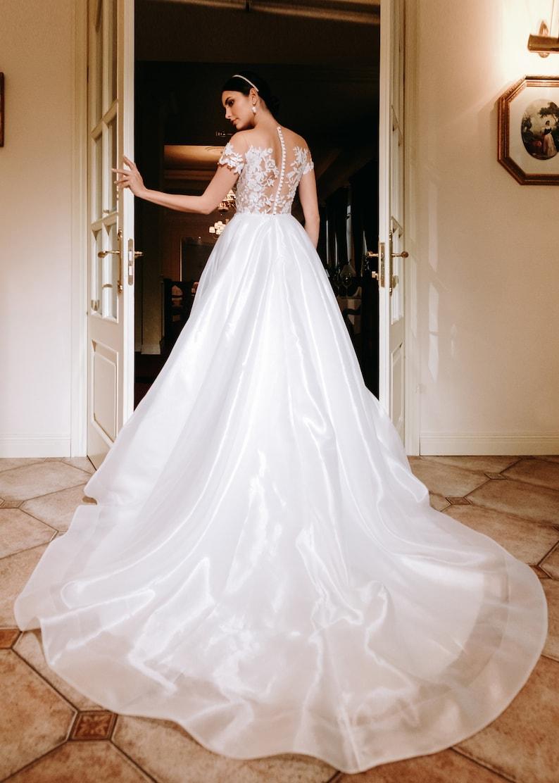 lace wedding dress bohemian beach light train ivory sexy image 1
