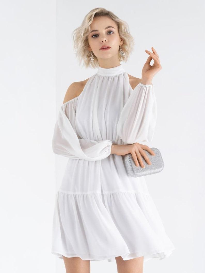 19b4707761cdf Robe de mariée Boho courte minimaliste simple soirée rouge | Etsy