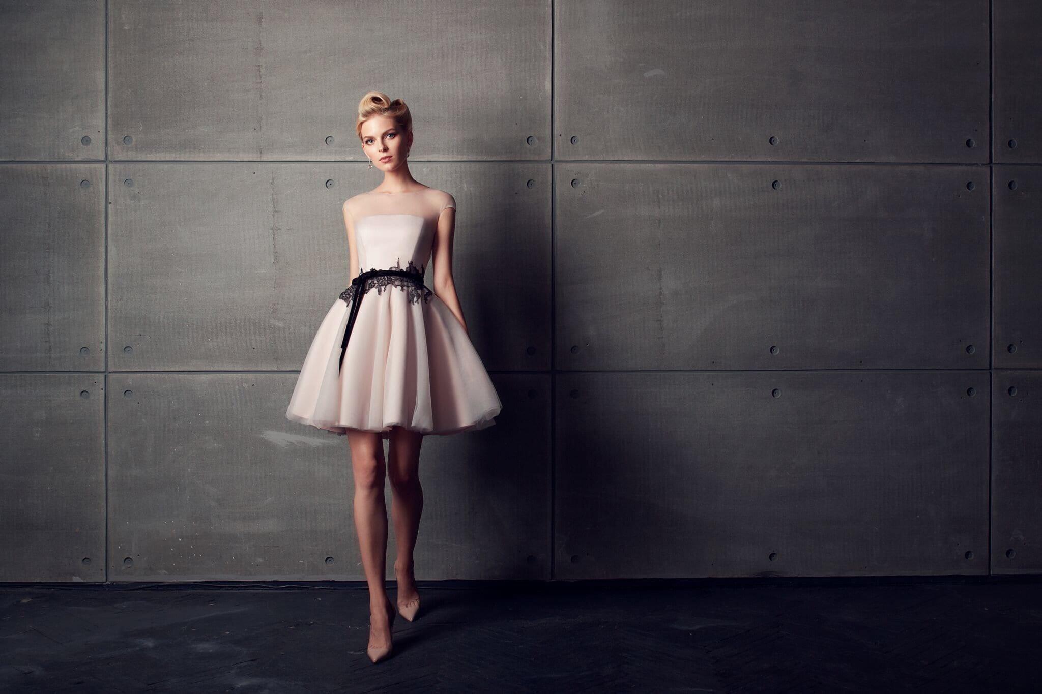 Short Beige Lace Bridesmaid Dresses: Short Wedding Dress Beige Wedding Dress Boho Wedding Dress
