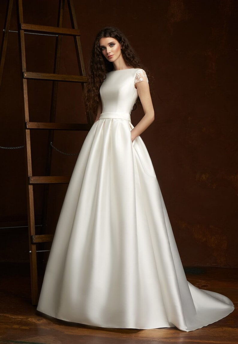 5004af59ada Modern wedding gown modern wedding dress elegant wedding dress