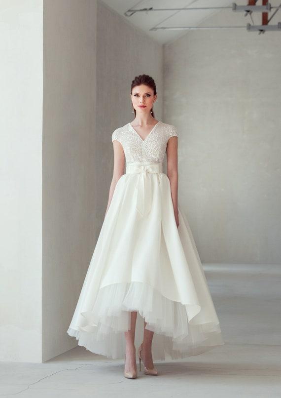 Boho Wedding Dress Ivory White Blush Lace Dress Skirt Lace Top Etsy