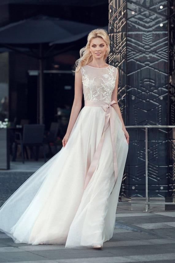Ivory Lace Wedding Gown Boho Wedding Gown Boho Wedding Dress Etsy