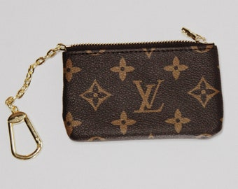 Repurposed Louis Vuitton Canvas Small Coin Pouch Zipper Purse Handmade  Accessory 66444395967d7