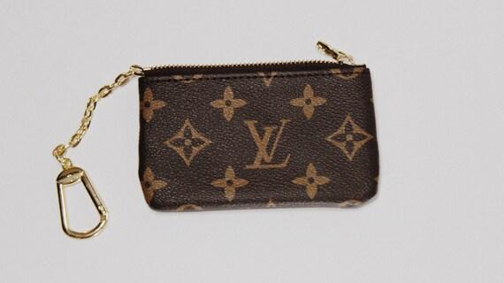 90c3c8689e7f Repurposed Louis Vuitton Canvas Small Coin Pouch Zipper Purse