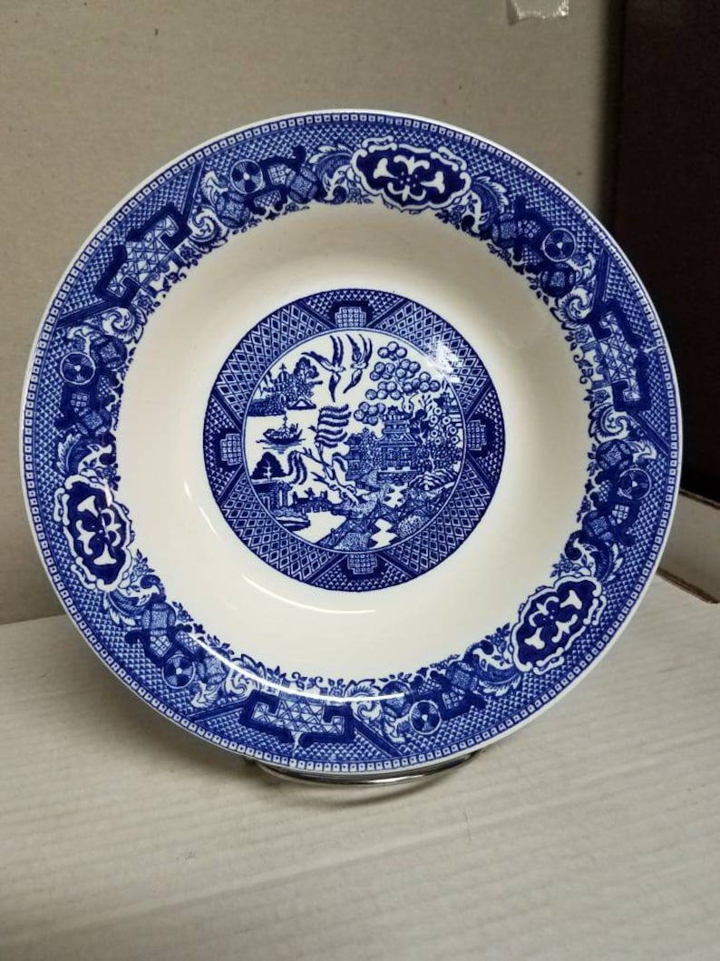 Vintage Blue Willow fruit bowl set of two