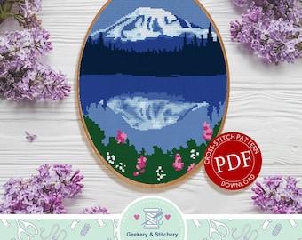 Mount Rainier   Digital Download   Cross Stitch Pattern   