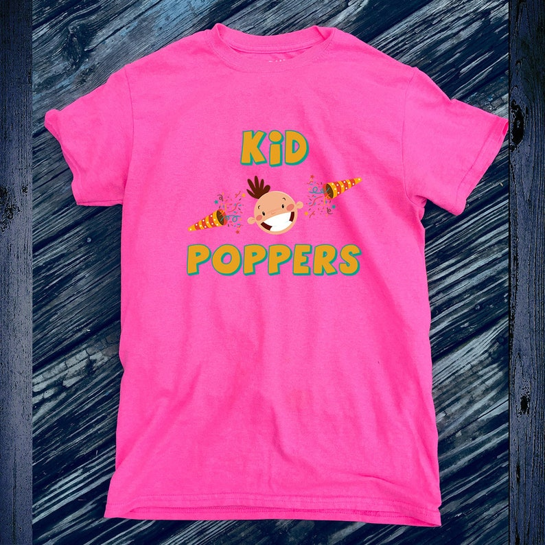 075ef8778dff3 Kids Comic Tshirt Birthday Cool Tee Kid Poppers Shirt