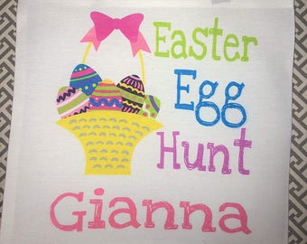 Children's Easter Egg Hunt Tote Bag-Customizable for boys and girls