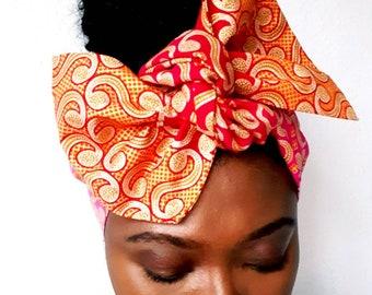 Wired headband, twist headbands, Dreadlocks wrap, Business, dolly Bow, Boho Wire Headwrap, Ankara head Scarf, African headwrap, black owned