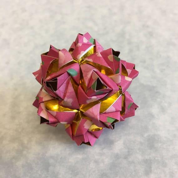 Little Roses Kusudama Origami Ball Etsy