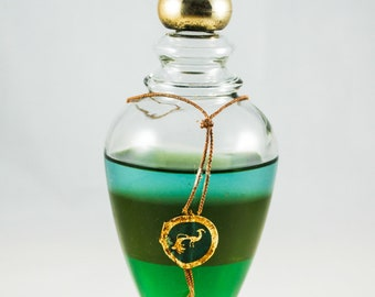 AVON BIRD of PARADISE Vintage Emollient Oils Bottle 6 Fl. Oz. (1970's) Part Full