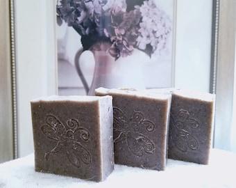 Lavender soap. Handmade, homemade, natural