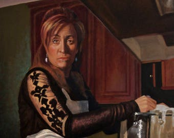 Juniper Tree Stepmother Portrait Painting in Oil