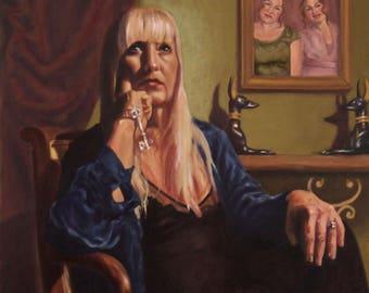Cinderella Portrait Painting in Oil