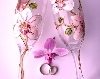 Bridal glasses, wine glasses