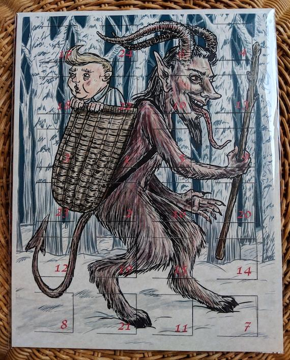 Badvent Calendar A Krampus And Creepy Christmas Creatures Etsy