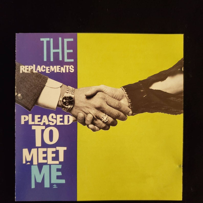 VTG THE REPLACEMENTS TOUR SHIRT 80s PLEASED TO MEET ME PAUL WESTERBERG