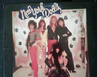New York Dolls ~ Night of the Living Dolls LP ~ 1985 Polygram Records ~ Original Vinyl Record ~ Glam Punk Rock