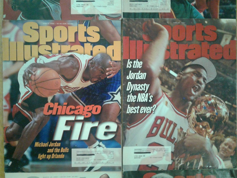 9568d1862671a Michael Jordan ~ Chicago Bulls ~ Vintage Sports Illustrated Magazines (6) ~  1996 ~ 1997 ~ NBA ~ Bulls Dynasty