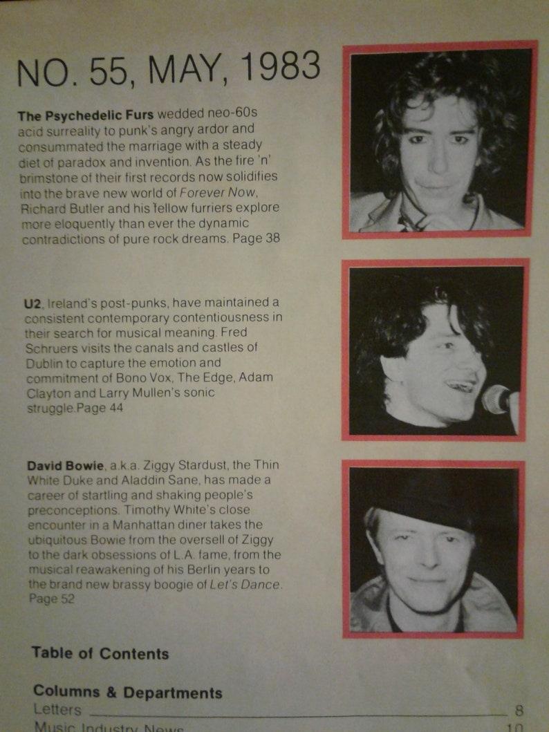David Bowie-Vintage Musician Magazine-1983