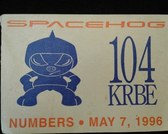 Spacehog Backstage Pass Numbers 1996 TOUR