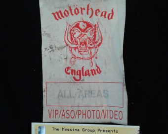 Motorhead Backstage Pass w 2 Motorhead Tickets
