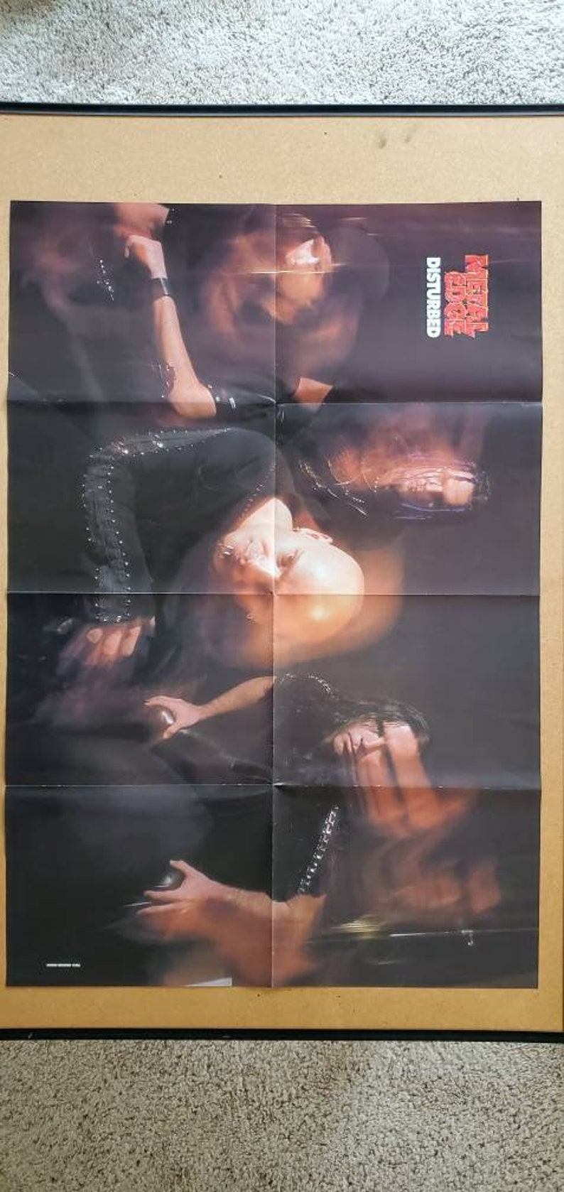 Disturbed Poster ~ 2001 ~ Metal Edge Magazine ~ 2 Sided Poster ~ Kittie ~ Vintage Disturbed Poster ~ Vintage Kittie Poster