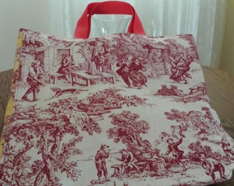 Country Scene Tote in Red