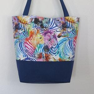 Rainbow Zebra Zebra Purse Zebra Gifts Zebra Rainbow Zebra Lover Pride Bag Funky Rainbow Tote Bag Zebra Accessory Animal Print Purse