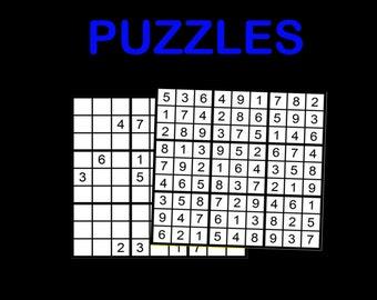Sudoku Printable Etsy