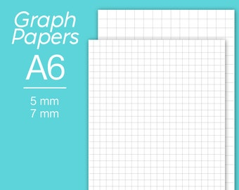 personal graph paper instant download 5 mm grid inserts 7 etsy