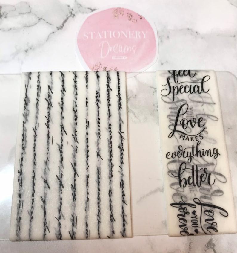 Love Script Washi Tape