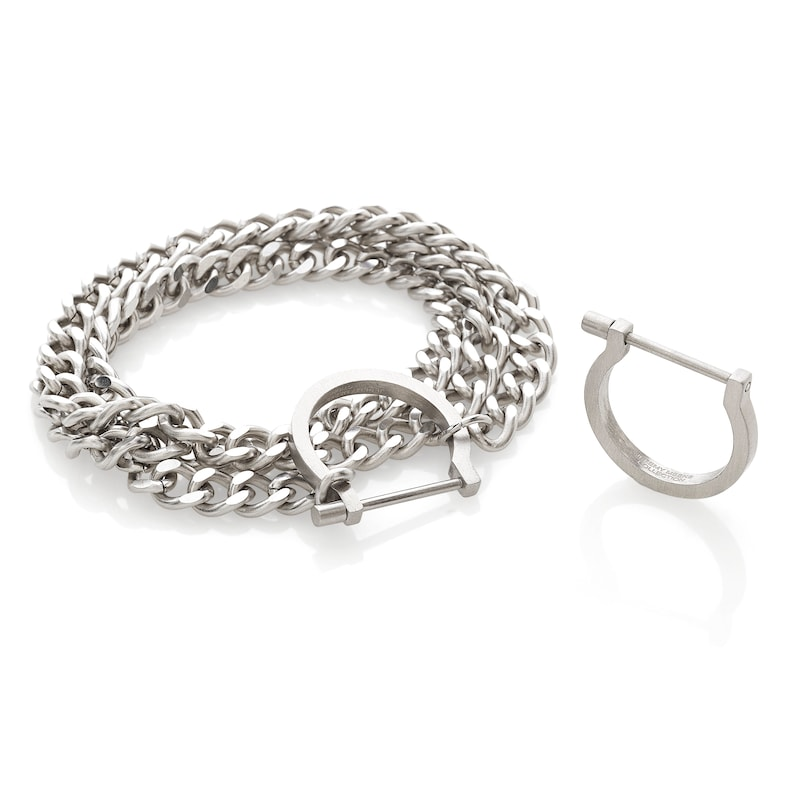 Unisex curb link bracelet mens necklace Locked Bar Cuff Shackle Band Stack Ring Jeremy Meeks 4 in 1 collection mens wallet chain