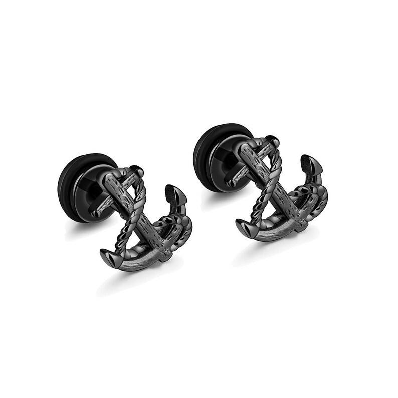 Stainless Steel anchor studs  Earrings  Piercing Earrings for Men Women  Anchor Earrings  Accessory  Gift  gift for men  earrings