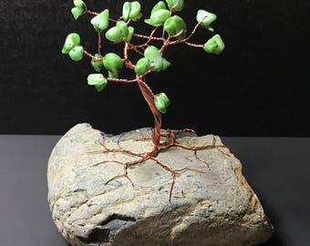 Aventurine on Copper Gem Tree