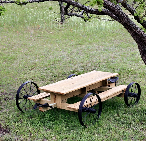 Picnic Table Plans How To Build A Picnic Table Outdoor Etsy