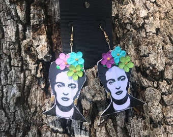 Pop color Frida Kahlo Earrings
